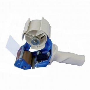 Aparatas lipniai juostai 50 mm su stabdžiu, mėlynas