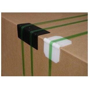 Apsauginiai plastikiniai pakavimo kampai 35x35 mm L formos (2000 vnt.)