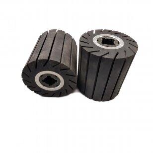 Būgnas 90x100x19 kietas išsiplečiantis, su įpjovimais, juodas