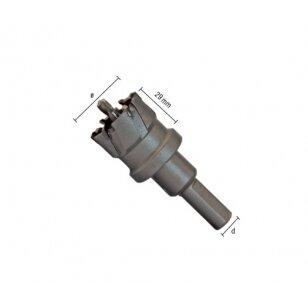 Gręžimo karūna plienui ECEF TCT INOX 60 mm