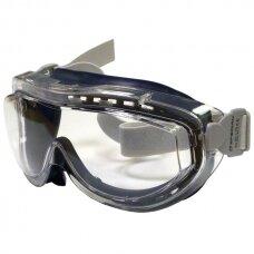 Honeywell Apsauginiai akiniai su dirželiu Eyeface FLEX SEAL GOG BLU/CLR FB LNS FAB BAND