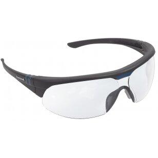 Honeywell Apsauginiai akiniai Millenia 2G (skaidrūs lęšiai su apsauga nuo rasojimo ir braižymosi,  juodas rėmas)