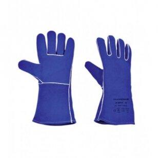 Honeywell Pirštinės Welder Blue HR, suvirintojų, verstos odos, su pamušalu, mėlynos, 10 dydis