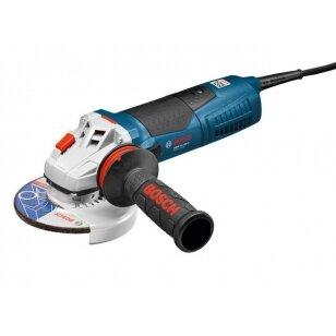 Įrankis elektrinis Bosch Kampinis šlifuoklis GWS15-125 CIE PRO/ 1500 W 2800-11500 rpm. reguliuojamos apsukos