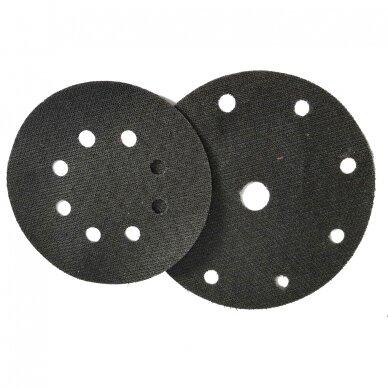 Kibus audinys/adapteris D125 8 skylės lipniam šlifavimo disko padui