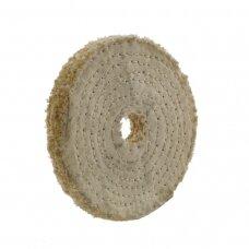 LEA Poliravimo diskas 100 mm x 1 sec, 20 mm vidinė skylė, C/S Sisal AA Dry, tankiai susiūtas