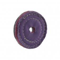 LEA Poliravimo diskas 100 mm x 1 sec, 20 mm vidinė skylė,  O/S Coloured, retai susiūtas