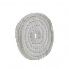 LEA Poliravimo diskas 100 mm x 1 sec, 20 mm vidinė skylė, O/S, retai susiūtas, baltas