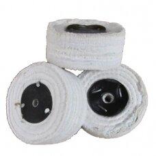 LEA Poliravimo diskas 100 mm x 3 sec. C/S tankiai susiūtas, baltas