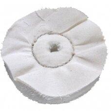 LEA Poliravimo diskas 100 mm x 32 mm (75 fold) Calico DG 1RS loose, baltas