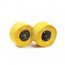 LEA Poliravimo diskas 100 mm x 50 mm (140 fold) Calico Bronco Loose, geltonas