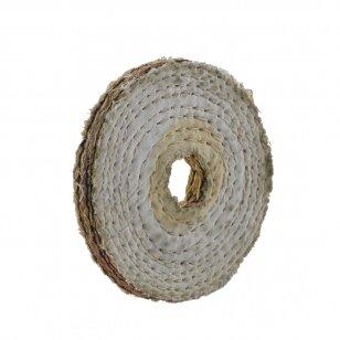 LEA Poliravimo diskas 100 mm x 1 sec, Hex vidinė skylė, Sisal AA Dry Soft, minštas