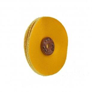 LEA Poliravimo diskas 130 mm, tapered bore, (12 fold) Calico Bronco Loosefold, geltonas