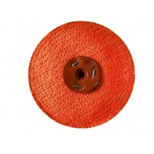LEA Poliravimo diskas 150 mm x 1 sec, C/S SISAL AA (Orange type), raudona