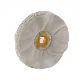 LEA Poliravimo diskas 150 mm x 12 mm (20 fold) Calico Optal Loose, būgniniam šlifuokliui, baltas
