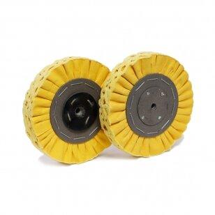 LEA Poliravimo diskas 200 mm x 2 sec. Bronco, 2J, ventiliuojmas, geltonas