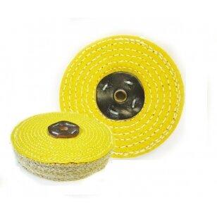 LEA Poliravimo diskas 200 mm x 2 sec. Sisal AA, C/S geltonas