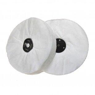 LEA Poliravimo diskas 300 mm x 40 mm (66 fold) Calico WDR Loose, baltas