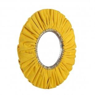 LEA Poliravimo diskas 400 mm x 180 cen 16 Ply 2J Bronco, ventiliuojmas, geltonas