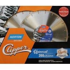 Norton Deimantinis pjovimo diskas 350x25.4 Clipper, kompl. 2 vnt. (ribotas kiekis)