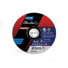 Norton pjovimo diskas A60R-BF41 125x1.0x22.23 STARLINE METAL/INOX
