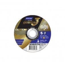 Norton pjovimo diskas NQ60ZZ-BF41 125x1.0x22.23 QUANTUM 3 METAL/INOX