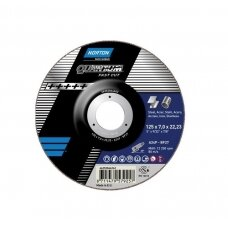 Norton Šlifavimo diskas A24P-BF27 125x7.0x22.23 QUANTUM METAL/INOX