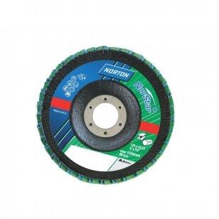 Norton Žiedlapinis diskas Conic R822/RX22 (Zirc) 125x22 P60 NORSTAR METAL/INOX