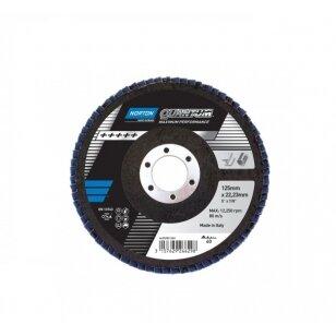 Norton Žiedlapinis diskas Conus R928 125x22 P40 QUANTUM Pink METAL/INOX
