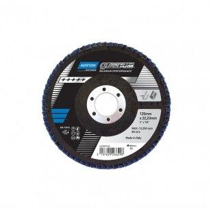 Norton Žiedlapinis diskas Conus R928 125x22 P60 QUANTUM Pink METAL/INOX