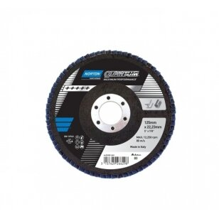 Norton Žiedlapinis diskas Conus R928 125x22 P80 QUANTUM Pink METAL/INOX