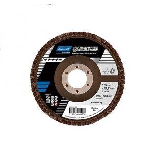 Norton Žiedlapinis diskas Conus R996 125x22 P80 QUANTUM METAL/INOX