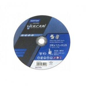 Norton pjovimo diskas A46S-BF41 230x1.9x22.23 VULCAN METAL/INOX