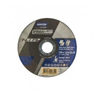 Norton pjovimo diskas ZA60ZZ-BF41 125x1.3x22.23 QUANTUM METAL/INOX