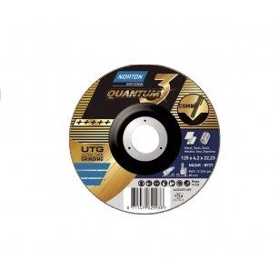 Norton pjovimo/šlifavimo diskas NQ24R-BF27 125x4.2x22.23 QUANTUM 3 COMBO METAL/INOX (Premium kokybė)
