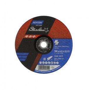 Norton Šlifavimo diskas A24Q-BF27 180x6.0x22.23 STARLINE METAL