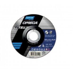 Norton Šlifavimo diskas A24S-BF27 125x4.0x22.23 OMEGA METAL/INOX (aukšta kokybė)