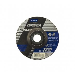 Norton Šlifavimo diskas A24S-BF27 125x7.0x22.23 OMEGA METAL/INOX