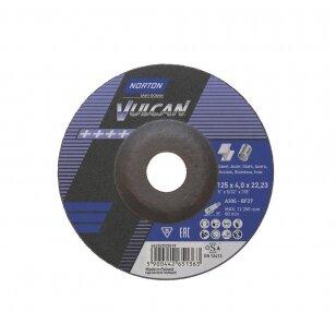 Norton Šlifavimo diskas A30S-BF27 125x4.0x22.23 VULCAN METAL/INOX