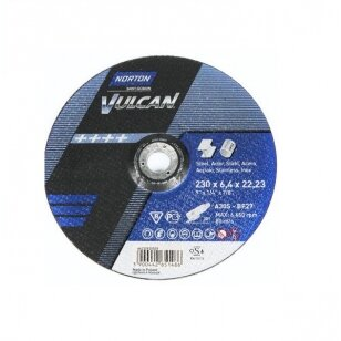 Norton Šlifavimo diskas A30S-BF27 230x4.0x22.23 VULCAN METAL/INOX