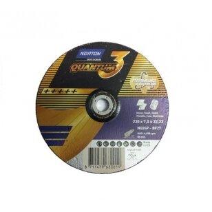 Norton Šlifavimo diskas NQ24P-BF27 125x7.0x22.23 Quantum 3 METAL/INOX