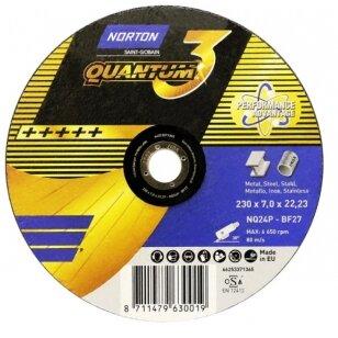 Norton Šlifavimo diskas NQ24P-BF27 230x7.0x22.23 Quantum 3 METAL/INOX