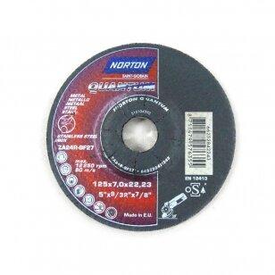 Norton Šlifavimo diskas ZA24R-BF27 125x7.0x22.23 Quantum