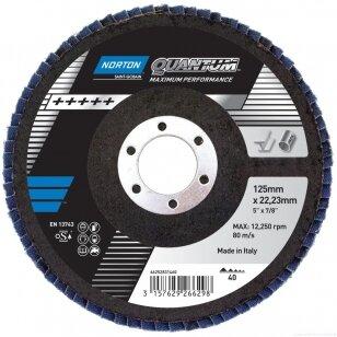 Norton Žiedlapinis diskas Conus R928 125x22 P60 QUANTUM X-TREME METAL/INOX