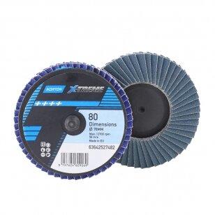 Norton Žiedlapinis diskas mini Flexi R828 75x6 P80 X-TREME METAL/INOX