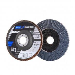 Norton Žiedlapinis diskas R860 125x22 P80 NOR-X-TREME METAL/INOX