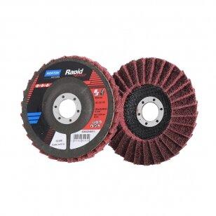 Norton Žiedlapinis diskas S2308 125x22 MED RAPID, bordo METAL/INOX