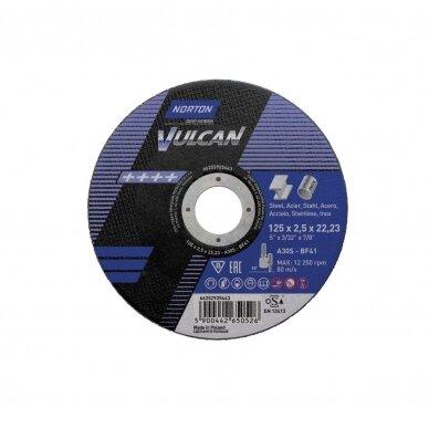 Norton pjovimo diskas A30S-BF41 125x2.5x22.23 VULCAN METAL/INOX
