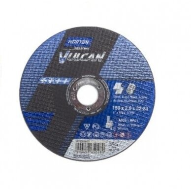 Norton pjovimo diskas A30S-BF41 150x2.0x22.23 VULCAN METAL/INOX