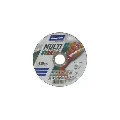Norton pjovimo diskas C60T-BF41 125x1.0x22.23 Multi material